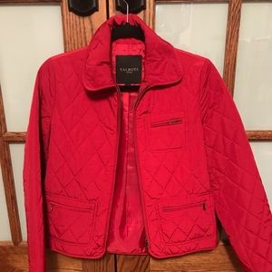 Cherry red spring jacket!